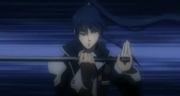 Somura desenvaina su espada