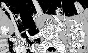 Dwarves v goblins