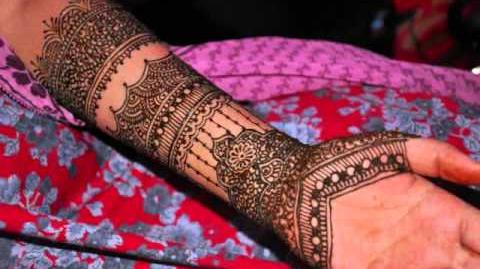 Indian Bridal Henna Design in Time Lapse
