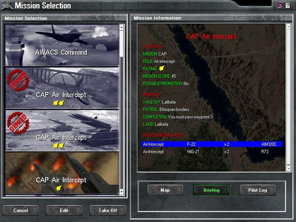 Highland mission selection