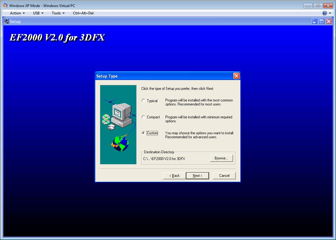 Custom install ef2000