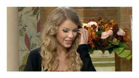 """Taylor Swift being interviewed on uk show """"This Morning"""""""
