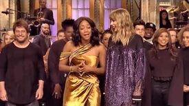 Taylor Swift and Tiffany Haddish SNL Ending ..