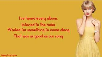 OUR SONG - TAYLOR SWIFT (Lyrics)