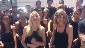 Taylor Swift Ice Bucket Challenge with Jamie King