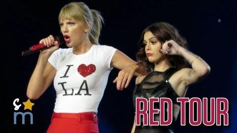 """Taylor Swift & Cher Lloyd - """"Want U Back"""" at Staples Center - Red Tour HD"""