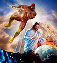 Macho man vs Jesus