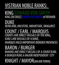 Vistrian nobility ranks
