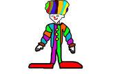 Clown nalyd scary