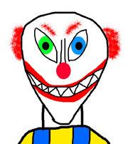 Scary xavier clown head