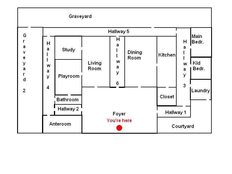 Dracula Mansion map