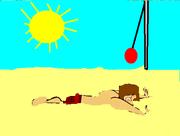 Tyler at beach