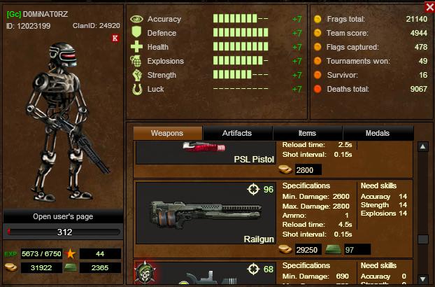 Railgun User