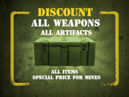 Weapons, artifacts discount