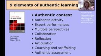 Authentic learning 1 AUTHENTIC CONTEXT