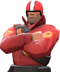 Soldier with the Human Cannonball TF2
