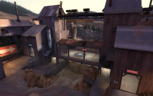 Yukon overlooking a control point TF2