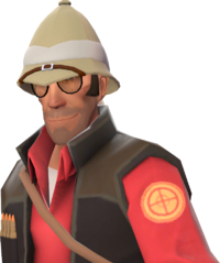 Sniper with the Shooter's Sola Topi TF2