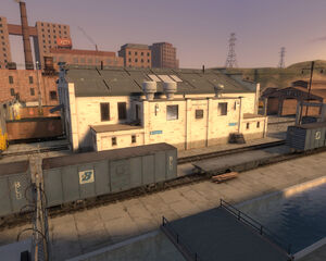Well BLU base from the outside TF2