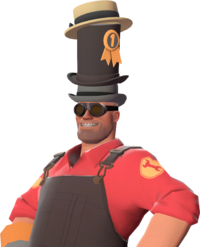 Engineer with the J.Axer's Dapper Topper TF2