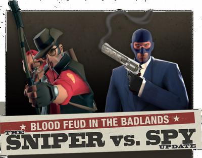 Sniper vs Spy Update banner TF2