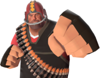 Heavy with the Gridiron Guardian TF2