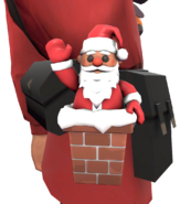 Soldier Pocket Santa
