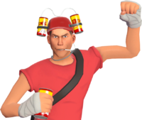 Scout with the Bonk Helm TF2