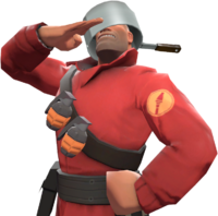 Soldier with the Stainless Pot TF2