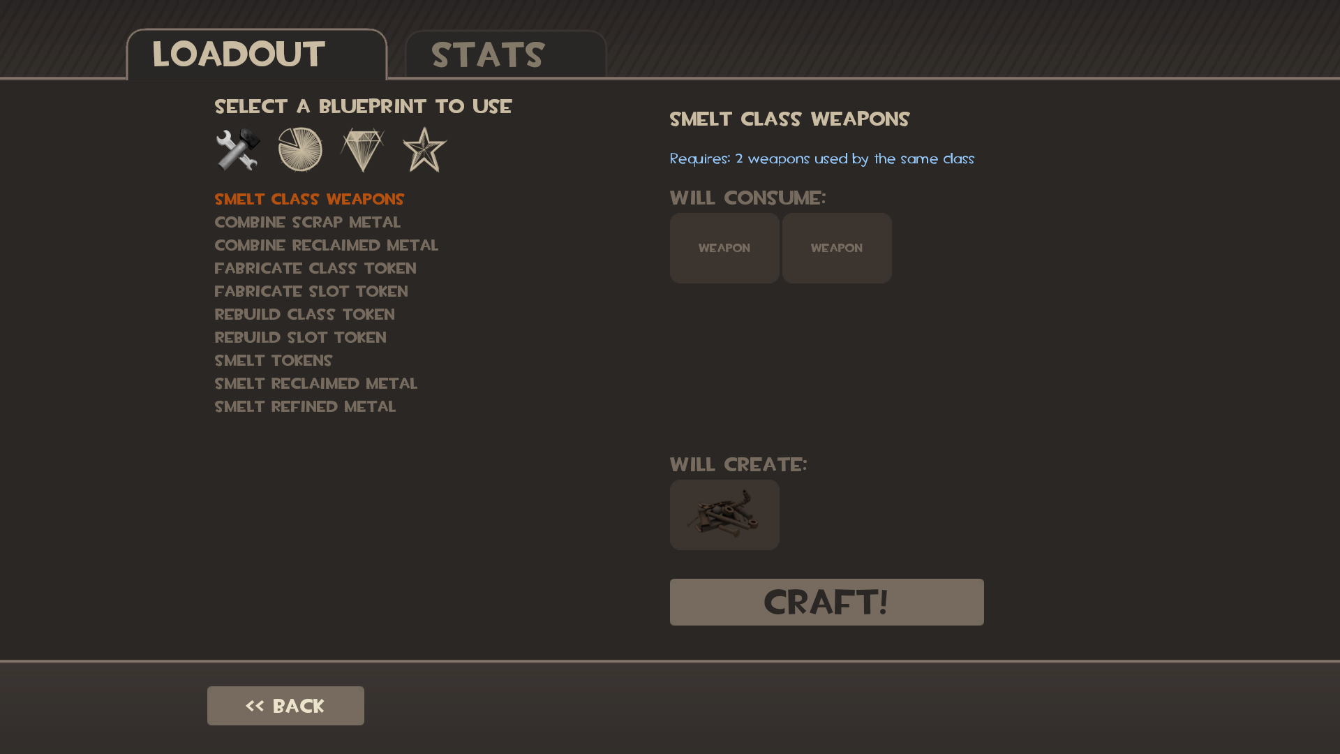 Crafting team fortress wiki fandom powered by wikia crafting screen tf2 malvernweather Gallery