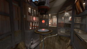 Steel inside RED base TF2