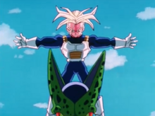 Future Trunks blocks Cell