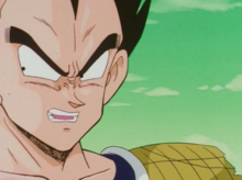 Vegeta while confronted by Ginyu Force