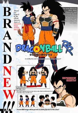 Ranch and Raditz turned good Shintani inspired character design sheets Dragon Ball R&R Z Abridged MasakoX TFS Team Four Star