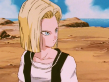 Android 18 being cautioned