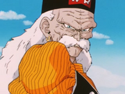Gero intimidating the Z-Fighters