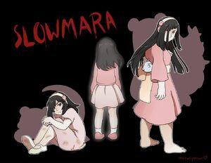 Human SLOWMARA in her Pokemon counterpart's colors