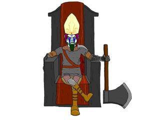 Lady Dumpae sitting at her throne Dark Souls 3 TFS Team Four Star