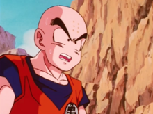 Krillin takes Future Trunks's orders