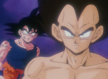 Vegeta appears to Goku