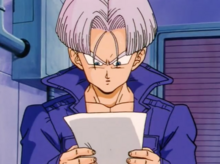 Future Trunks with the fax of his time machine