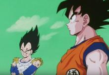 Vegeta and Goku face Jeice and GInyu