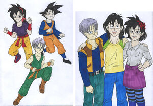 Db saiyan kids teen adult present ranch trunks goten all grown up what if raditz turned good by isabellafaleno dbmh87h-fullview