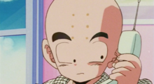 Krillin on the phone with Nappa
