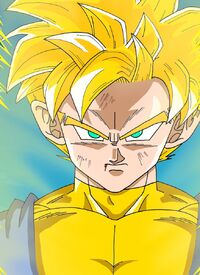 Super Saiyan Paata a bit battle damaged