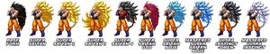 Raditz turned good forms and power up sprites (by Irongreekgaming) masakox tfs team four star dragon ball