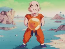 Krillin with a Dragon Ball