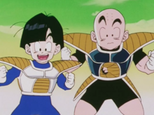 Gohan and Krillin find Piccolo and Goku