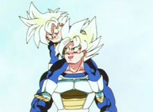 Gohan and Goku as Super Saiyans