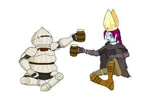 Lady Dumpae drinking Dark Souls 3 TFS Team Four Star